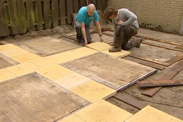 Voorbeeld terras met steenschotten houthandel gorinchem - Een terras aan het plannen ...