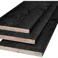 Douglas plank zwart geïmpregneerd 22 x 200 mm