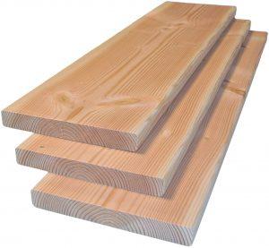 2.Planken Douglas 25x195x4000-5000mm onbehandeld, gedroogd en geschaafd