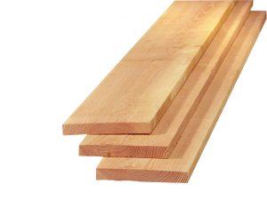 Planken Douglas 22x150x3000-4000-5000mm vers, onbehandeld en fijnbezaagd