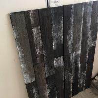 Houtstrips zwart/grijs per doos