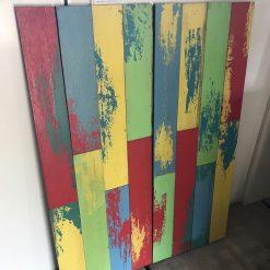 Houtstrips gekleurd per doos