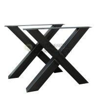 Stalen X kruis tafelpoot per set