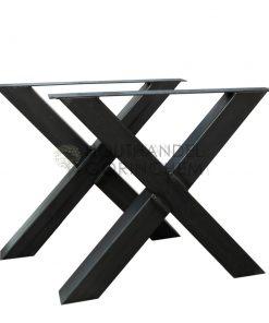 Stalen X-tafelpoot 100x100mm per stuk