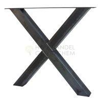 Stalen X kruis tafelpoot per stuk