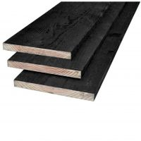 Grenen plank zwart geïmpregneerd 22 x 200 mm