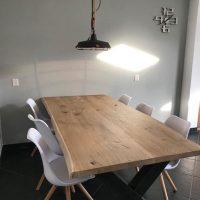 Robuuste Eiken boomstamtafelblad 160 x 90