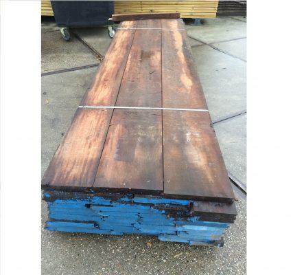 Azobe damwand plank 40×200-350x3500mm per m2