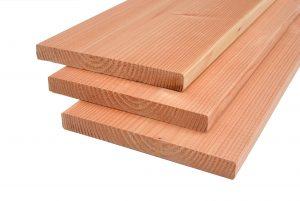 Douglas planken 25x240x4000-5000mm gedroogd-geschaafd