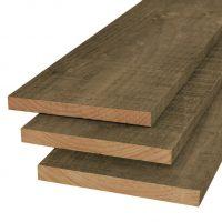 Douglas plank 22 x 200 mm   groen geïmpregneerd   fijnbezaagd