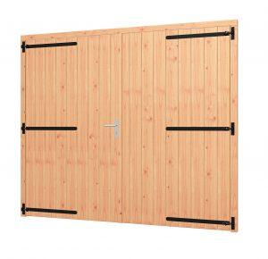 Opgeklampte deur XL dubbel, kozijn 2540x2170mm