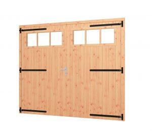 Opgeklampte deur XL dubbel met bovenraam, kozijn 2540x2170mm
