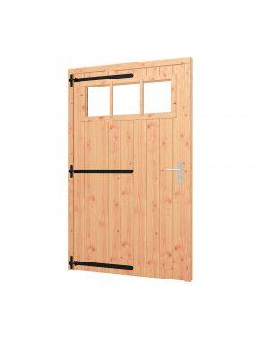 Opgeklampte deur XL enkel met bovenraam, kozijn 1335x2170mm