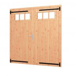 Opgeklampte deur dubbel | inclusief bovenraam 54.0058