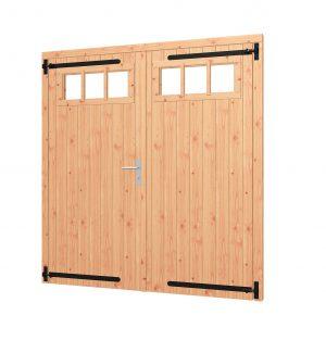 Opgeklampte deur dubbel met bovenraam, kozijn 1900x2020mm