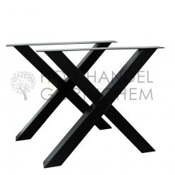 Stalen X-tafelpoot 8x8cm per stuk