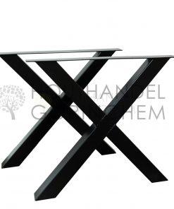 Stalen X-tafelpoot 80x80mm per stuk