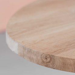 Eiken tafelblad ovaal 180 x 90 cm